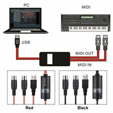 Usb Midi Cable Adapter For Piano Instrument Computers Connector Tools Converter