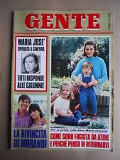 GENTE n°47 1968 Maria Josè di Savoia Gianni Morandi Dalida dopo morte Te [G685A]