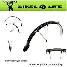 1 PAIR CYCLE BIKE FRONT & REAR MOUNTAIN BIKE MUDGUARDS MUD GUARDS SILVER