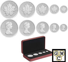 2013 Set of 5 '25th Ann. of the Silver Maple Leaf' Coin Set .9999Fine(NT)(13074)