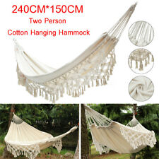 Morocco Hanging Cotton Rope Macrame Hammock Chairs Swing Outdoor Home Garden