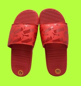 🔥 PUMA Mens's Sandals/Slides pool side beach , Size 11- FIRE RED 🔥NWT