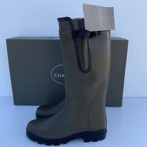 Le Chameau Verzon M Men's Vert Chameau Green Lined Wellington Boot Size UK 8