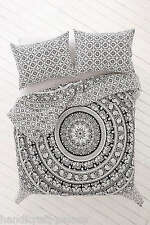 Large Indian Elephant Mandala Tapestry Hippie Wall Hanging Bed Sheet with Pillow