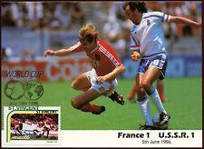 Football Maxicard 1986, France V USSR, Handstamped #C26411