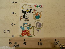 STICKER,DECAL SHEET YOKI ANIMALS DIEREN