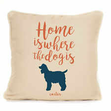 More details for gift for dog cocker spaniel personalised dog cushion unique present for owner