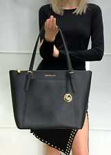 Michael Kors Ciara Large EW Top Zip Tote Saffiano Leather Black 35T8GC6T9L