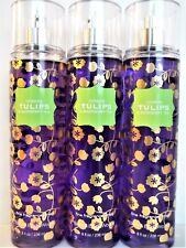 Bath Body Works LONDON TULIPS & RASPBERRY TEA Fine Fragrance Mist, 8 oz, NEW x 3