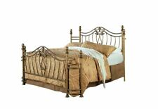 Sydney Queen Bed Antique in Brushed Gold