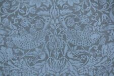 "WILLIAM MORRIS CURTAIN FABRIC ""Pure Strawberry Thief"" 2 METRES SAGE LINEN BLEND"