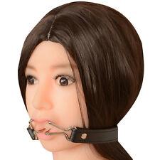 mouth nose hook gag bondage gear muzzle head harness S&M kinky sex aid 585