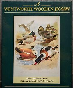 """Wentworth Wooden Jigsaw Puzzle 250 piece """"Duck's - Thorburn's Birds''"""