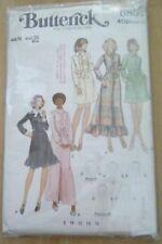 Vintage Butterick Pattern  Ladies A- line Shirt-Dress Size 14
