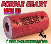 "Duck Call Diamond Wood RAINBOW COLOR BLAST 2.75/"" x 1.4/"" OD /& 5//8/"" Bore"