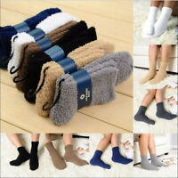 1pair Men's Cashmere Fuzzy Socks Autumn Winter Cozy Socks Warm Socks Bed Socks