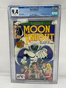 Moon Knight 1 CGC 9.4 White Pages Origin of Moon Knight
