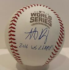 Anthony Rizzo Signed 2016 World Series Baseball FANATICS Hologram Chicago Cubs