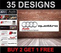 Audi Quattro PVC Adesivo per Garage Officina