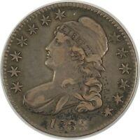 1833 50C CAPPED BUST HALF DOLLAR VF+ DETAILS READ DESCRIPTION  (11112033)