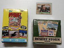 2 Boxes of Desert Storm Trading Cards, 36 Packs Each, 1991, Plus Bush Card, New