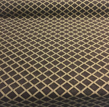 Chenille Dark Brown Gold  Diamond furniture Upholstery fabric by the yard