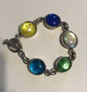 SILPADA - B0797 - Glass Link & Sterling Silver Bracelet RARE