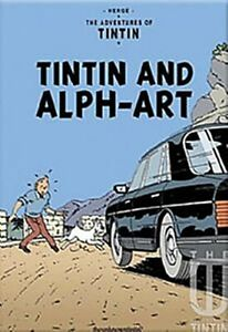 Tintin And Alpha-Art  fridge magnet (rr)  ++++ REDUCED TO CLEAR - DAMAGED ++++