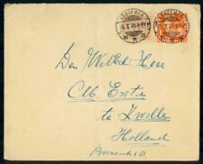 Mayfairstamps Netherlands Indies 1935 Keboemen Uprated to Zwolle Stationery Cove