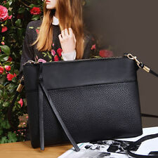 Women Handbag Shoulder Bag Faux Leather Messenger Zipper Bag Satchel Tote _GG