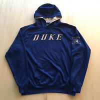VTG 90s Duke University Hoodie Mens XL Spell Out College Blue Devils Basketball