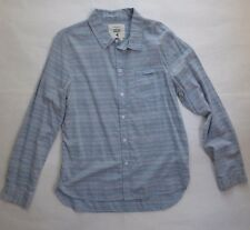 Native Youth Light Blue Casual Shirt Size Large Super Slim Fit Textured Striped