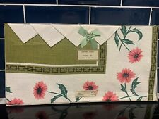 More details for 1950's vintage retro boxed tablecloth and napkins