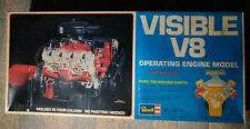 1977 Vintage Revell Visable V8 Operating Engine Model Kit Open Bags Motor Inc.