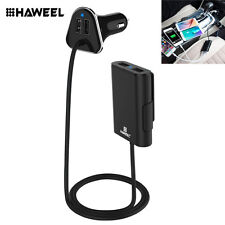 HAWEEL 9.6A 4 Port USB Passenger Car Charger Cable Road Rockstar Back Seat
