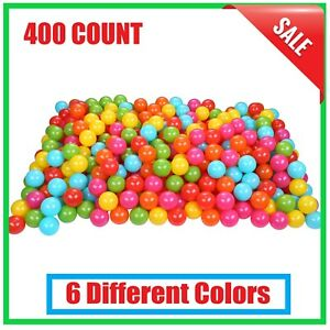 400 Ball Pit / Play Balls With Bag - Non Toxic, Crush Proof, 6-Colors, Durable
