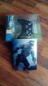PACK MANETTE XBOX 360 + HALO 4 + STEELBOOK XBOX 360 VERSION FR NEUF ET EMBALLE