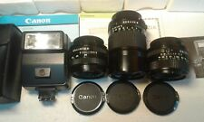 Canon lens vintage set + flash as new  / Set lenti come nuovi REDUCED PRICE