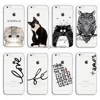 Ultra Slim Clear Pattern Soft TPU Gel Case Cover For Apple iPhone X 8 5 6 7 Plus