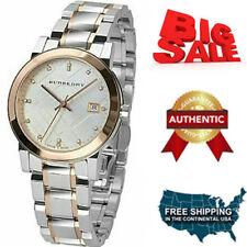 100% Brand NEW Burberry Silver Dial Two-tone Ladies Watch BU9127