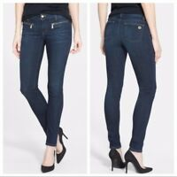Michael Kors Skinny Zipper Pocket Jeans Stretch Dark Wash Women's Size 4 HW5170