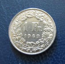 """Münze 1 Schweizer Franken 1969 """"B"""" aus Umlauf gültiges Zahlungsmittel Sammler"""