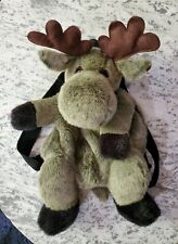 Mango Teddy Bear Co. Moose Backpack Gray/Brown/Black Bag Plush Stuffed Animal