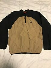 Element Windbreaker Pullover 1/4 Zip Very Nice! Size Small Black/Khaki