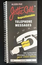 Kleer-Fax Jotta-Call Telephone Messages Carbonless Messages in Duplicate Notes