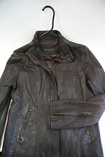 Andrew Marc Moto Brown Leather Jacket Size L