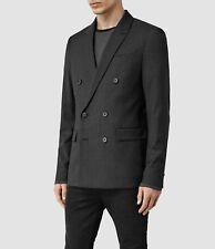 """Mens AllSaints Gray Forsyth DB Blazer/jacket Size 40"""""""