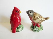 Fitz and Floyd Santas Forest Friends Bird Salt & Pepper Shakers New