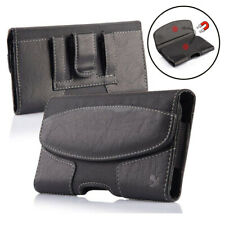 """Heavy Nylon Leather Pouch Case Cover Belt Clip Holster For 6"""" Screen Cellphone"""