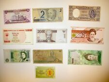 Vintage Mix of 10 Different Banknotes Circulated World Currency Paper Money Lots